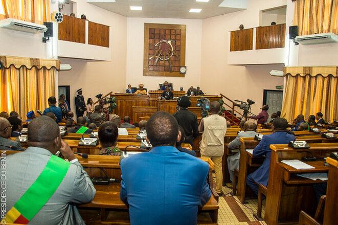 Séance plénière à l'Assemblée nationale du Bénin