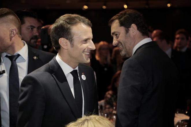 Emmanuel Macron et Christophe Castaner. © Reuters