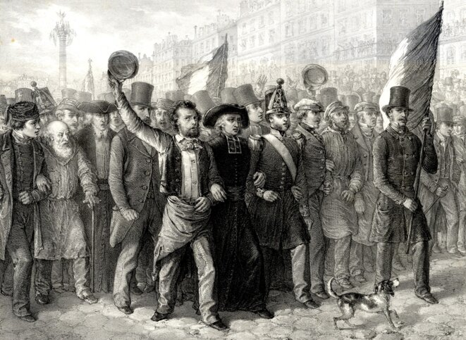 Manifestation pacifique et fraternelle, estampe, Collette, A., Éd. Domnec, 1848. Coll. Musée de l'Histoire Vivante