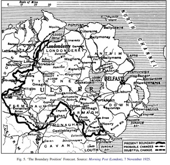 Une carte de la frontière publiée en 1925. © DR