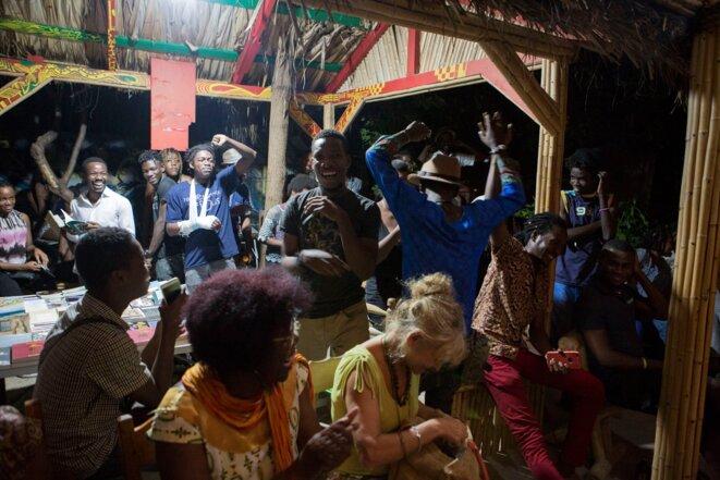 Moment du  festival Quatre chemins à Port-au-Prince © Carven Atelson
