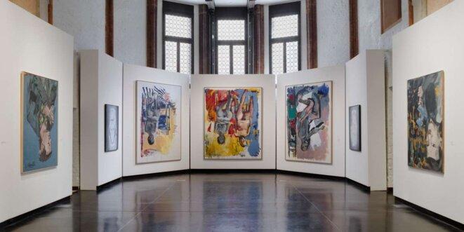 Vue de l'exposition consacrée à Georg Baselitz à l'Accademia, dans le cadre de la 58e Biennale de Venise. © ANDREA SARTI / CAST1466 COURTESY GAGOSIAN