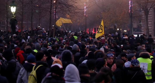 La manifestation du 9 décembre 2019, à Paris. © Reuters