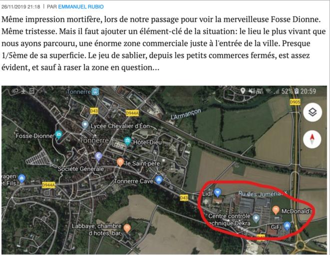 """Commentaire au billet de Jean-Pierre Charbonneau, """"Tonnerre, petite ville mais grands enjeux"""""""