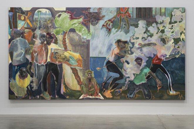 "Michael Armitage, ""The Promised Land"", Huile sur toile, Biennale de Venise, 2019. © Photo-Giorgio-Perottino"