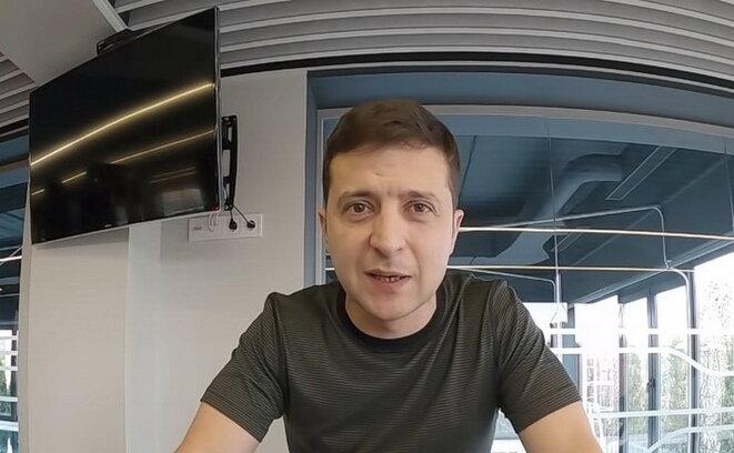 Zelensky, le 2 décembre, expliquant ses attentes depuis sa salle de sport.
