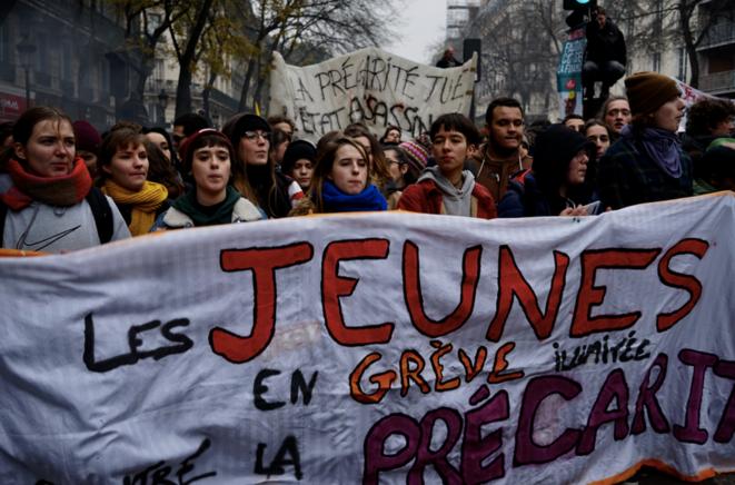 Cortège parisien du 5 décembre © Rachida El Azzouzi
