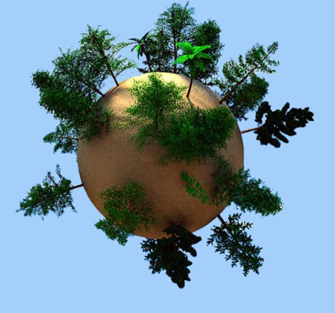 La terre vue d'Unisylva - Allégorie - XXIème siècle © Lionel DESCHAMPS