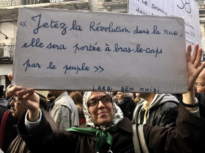 8 novembre 2019, Alger, 38e vendredi consécutif de manifestation contre le régime. © Kahina Nour