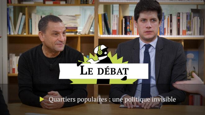 Mohamed Mechmache et Julien Denormandie. © Mediapart