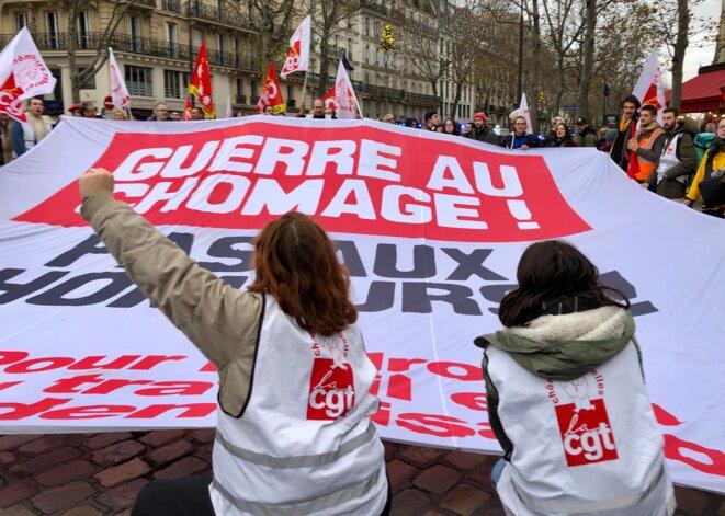 Manifestation contre la précarité, le 7 décembre 2019 à Paris. © MJ