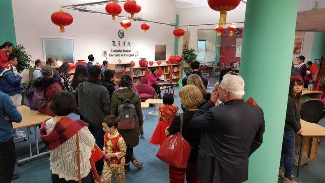 Célébration du Nouvel An chinois à l'Institut Confucius de Liverpool. Photo: Université de Liverpool.