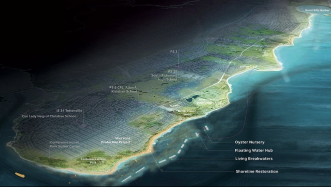 Living Breakwaters, Design and Implementation, Staten Island, NY, ongoing © SCAPE