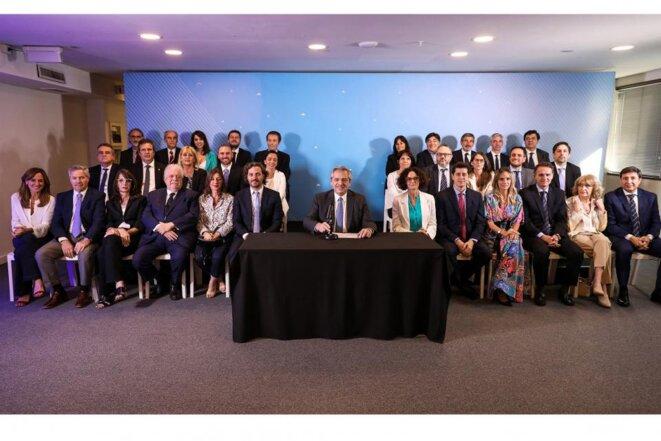 Le cabinet de Alberto Fernández © Esteban Collazo
