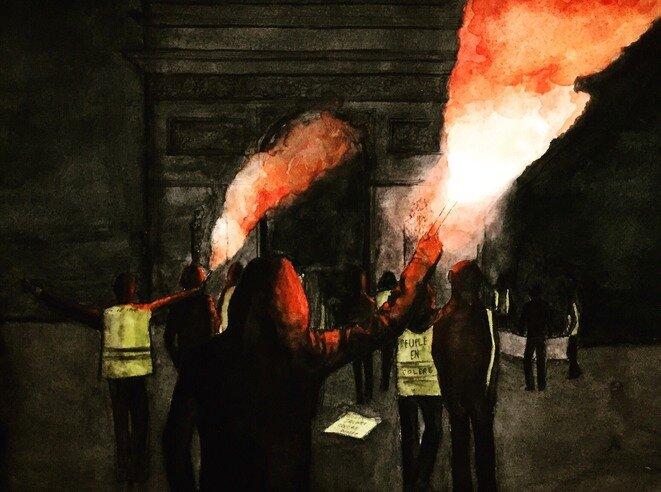 La France en colère © Élisa Perrigueur