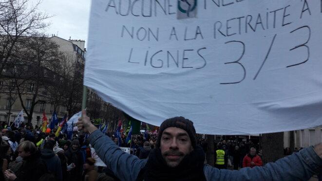 Grève générale, reconduction, retrait de la réforme, manif du 10 décembre 2019, retraites © Marjorie Milona