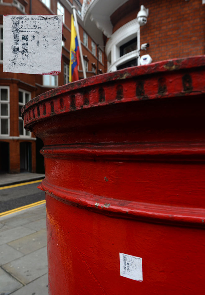 Ecuadorian Embassy in London, 3 Hans Crescent. September 2019.