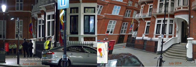 Ecuadorian and Colmbian embassies entry, 2012 and 2014.