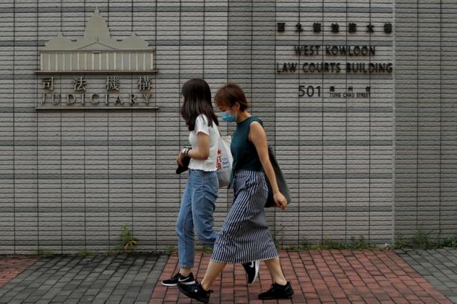 Le tribunal de West Kowloon, où sont jugés certains manifestants arrêtés depuis le mois de juin 2019. © REUTERS/Jorge Silva