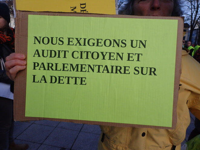 Nous exigeons un audit citoyen et parlementaire sur la dette © ©AB