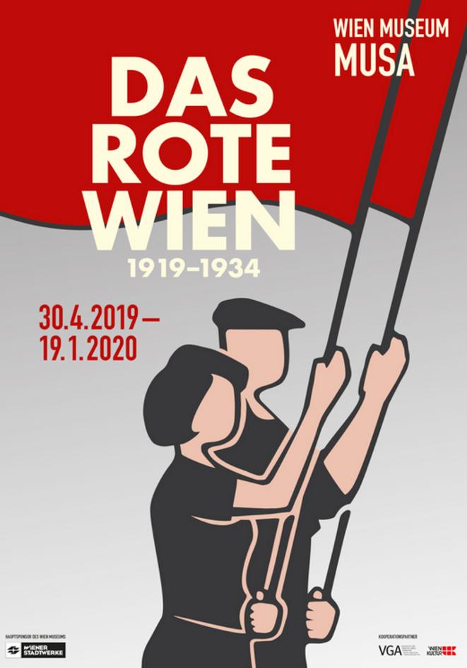 """Affiche de l'exposition sur """"Vienne la rouge"""", en cours à Vienne. © DR"""