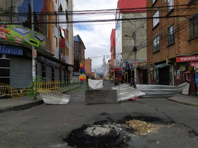 Coupure de route à El Alto © Shezenia Hannover Valda