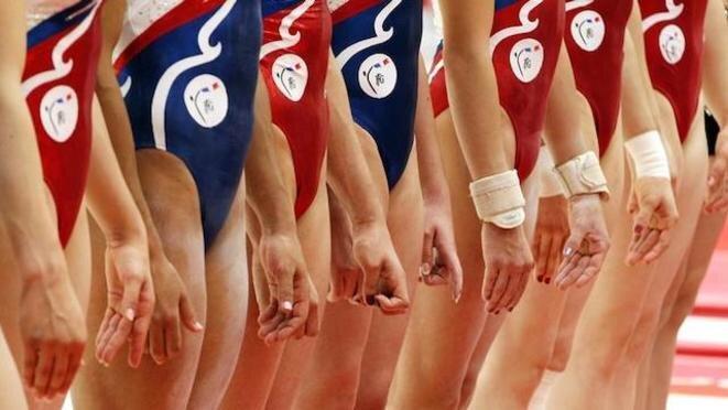 El equipo de gimnasia de Francia en los Juegos Olímpicos de 2012. © Reuters