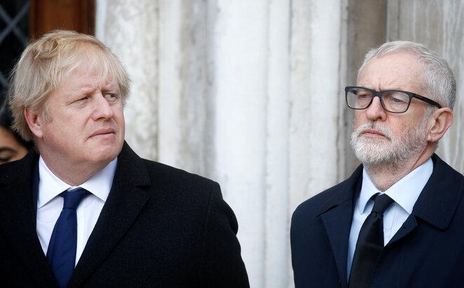 Boris Johnson y Jeremy Corbyn, el 2 de diciembre de 2019. © Reuters/Henry Nicholls