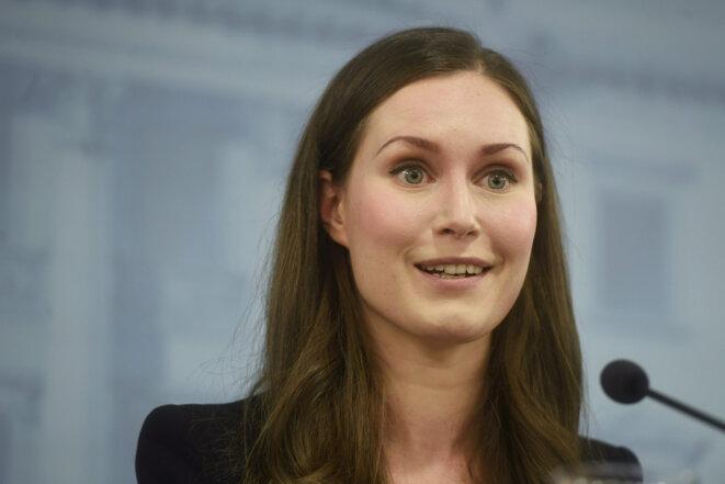 Sanna Marin, première ministre finlandaise. © Reuters