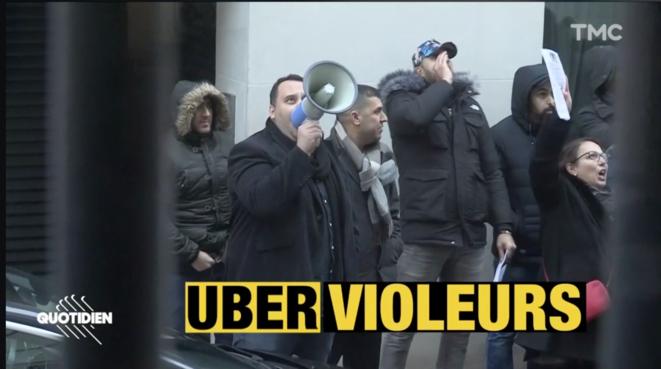 Uber Violeurs scandés par les manifestants