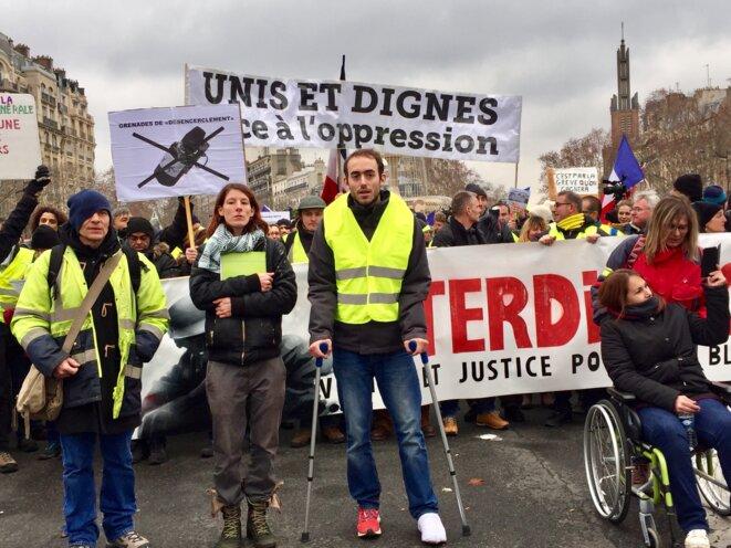 Marche des blessés gilets jaunes, 2 février 2019, Paris.