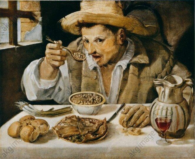 Le Mangeur de fèves © Annibale Carracci
