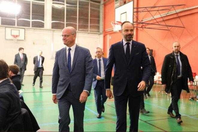 Jean-Michel Blanquer et Edouard Philippe à Nancy © DR
