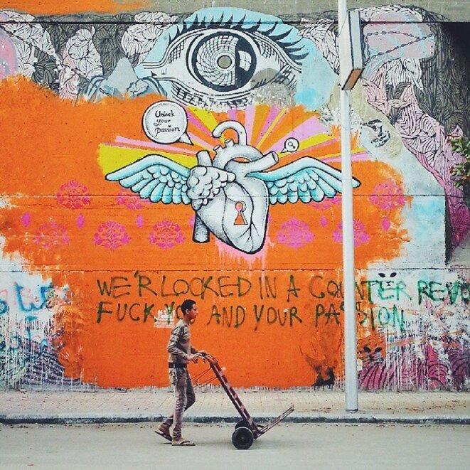 "Photo postée sur le groupe Facebook ""Revolution Graffiti - Street Art of the New Egypt""."