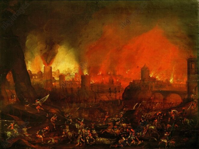 Sac de Rome, peinture 17è