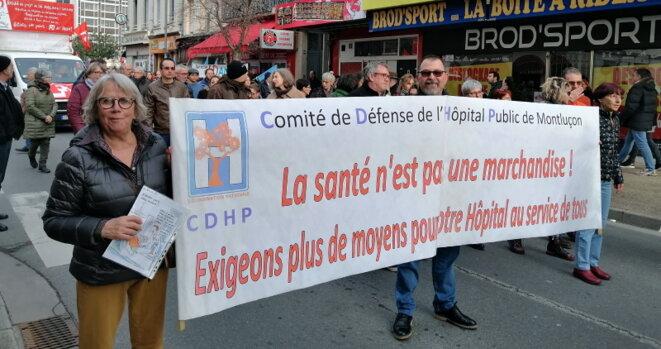 Le comité de défense de l'hôpital  de Montluçon