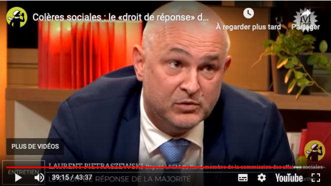 Laurent Pietraszewski au live de Mediapart du 4 décembre. © Mediapart