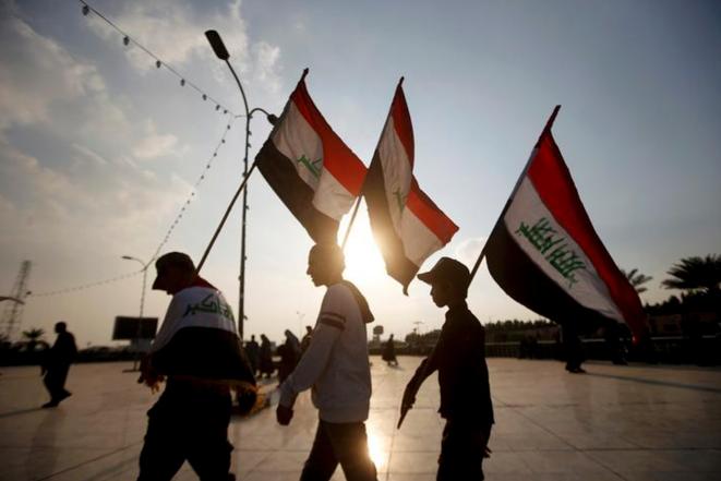 Lors de manifestations à Basra, en Irak, le 9 décembre 2019. © REUTERS
