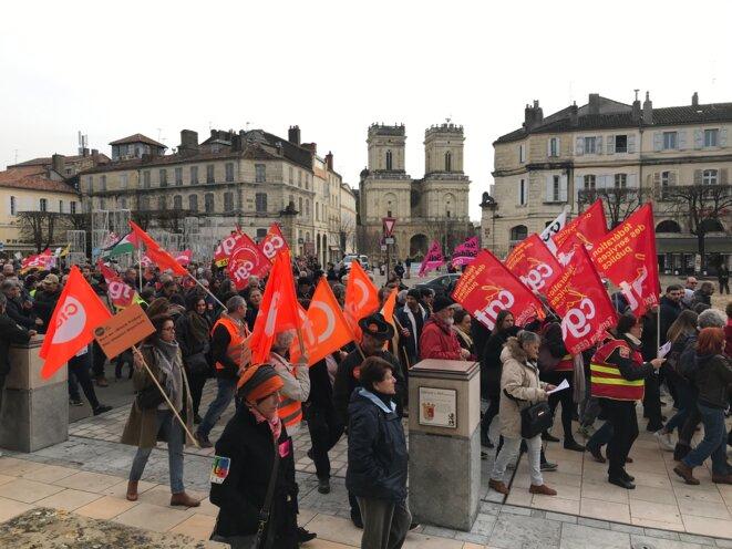 Manifestation du 17 décembre contre la réforme des retraites à Auch, Gers [Photo YF]
