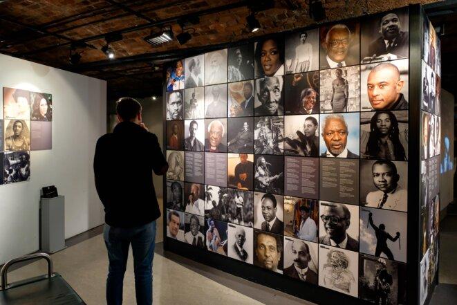 Le mur des «black achievers» [des battants de la communauté noire], au musée de Liverpool © Dave Jones.