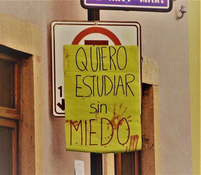 «Je veux étudier sans avoir peur» © © Crédit photo: Gregorio Huerta Rodriguez