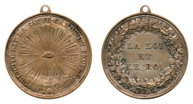 Médaillon des colporteurs de journaux, automne 1789