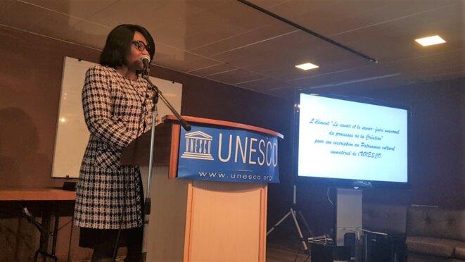 Mme Rachel Annick OGOULA AKIKO ép. OBIANG MEYO, Ambassadrice, Déléguée Permanente du Gabon auprès de l'UNESCO, Présidente du Groupe Afrique