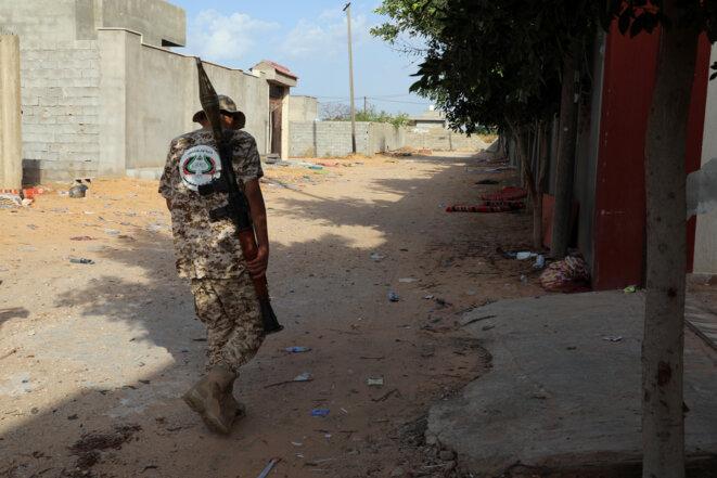Un militaire à Tripoli, le 14 octobre 2019. © Reuters