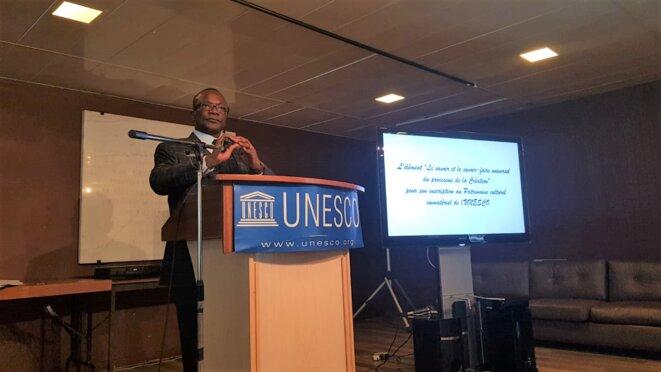 M. Oumar Keïta, Ambassadeur, Délégué permanent du Mali auprès de l'Unesco, Vice-président du groupe Afrique.