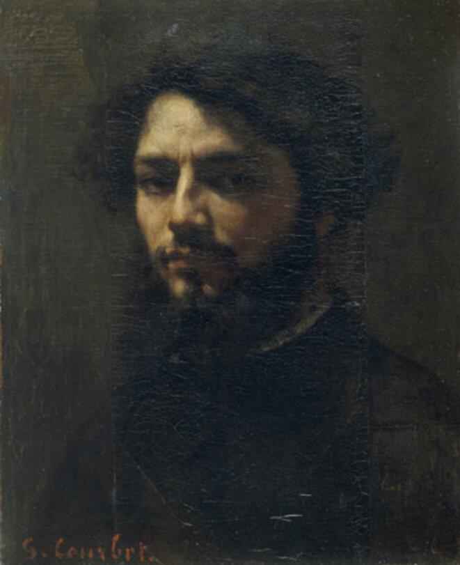 Gustave Courbet, Autoportrait, vers 1850, huile sur toile, Besançon, Musée des Beaux-Arts et d'Archéologie © Besançon, Musée des Beaux-Arts et d'Archéologie ) Photographie P. Guenat