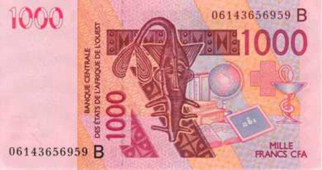 Banque Centrale des Etats d'Afrique de l'Ouest Billet de 1000 Francs CFA