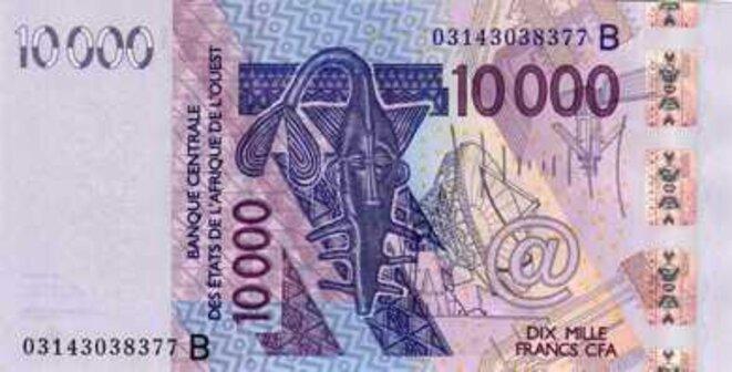 Banque Centrale des Etats d'Afrique de l'Ouest Billet de 10000 Francs CFA