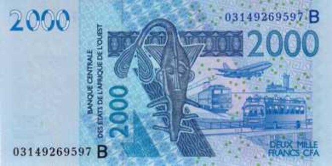 Banque Centrale des Etats d'Afrique de l'Ouest Billet de 2000 Francs CFA