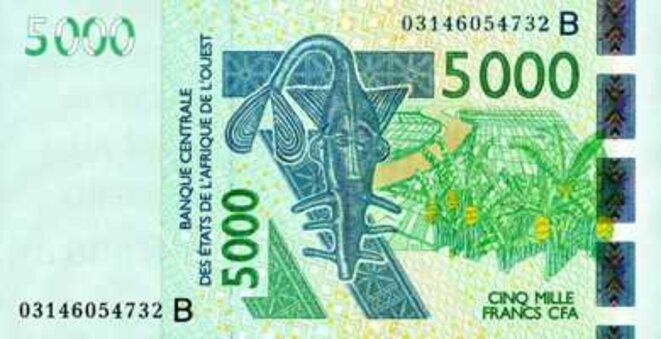 Banque Centrale des Etats d'Afrique de l'Ouest Billet de 5000 Francs CFA